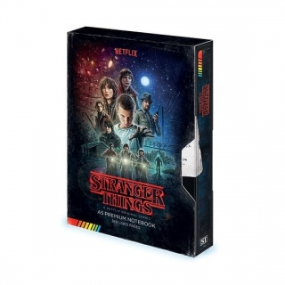 Zápisník Stranger things VHS A5