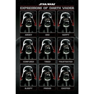 Plakát Star Wars - Darth Vader Expressions
