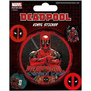 Sada samolepek Deadpool 5ks