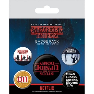Sada odznaků Stranger things 5ks